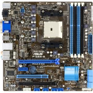 Asus F1A55-M/CSM Desktop Motherboard - AMD - Socket FM1 - Micro ATX - 1 x Processor Support - 4 GB DDR3 SDRAM Maximum RAM - CrossFireX Support - Serial ATA/300