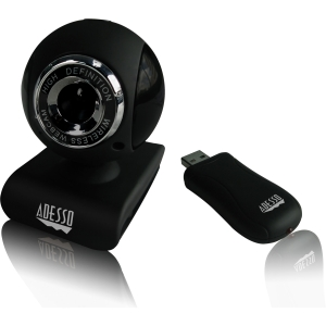 Adesso CyberTrack V10 Webcam - 0.3 Megapixel - USB 2.0 - 1.3 Megapixel Interpolated - 640 x 480 Video - CMOS Sensor - Manual Focus - Microphone