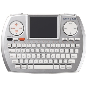 SMK-Link VP6366 Keyboard - Wireless - RF - Silver - USB - English (US) - TouchPad - Computer - Play/Pause, Stop, Next Track, Previous Track, Volume Up, Volume Down, Mute, Eject, Next Page, Previous Page, Home Hot Key(s) - QWERTY