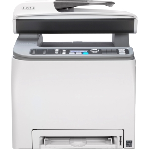 Ricoh Aficio SP C242SF Laser Multifunction Printer - Color - Plain Paper Print - Desktop - Printer, Scanner, Copier, Fax - 21 ppm Mono/21 ppm Color Print - 2400 x 600 dpi Print - 20 cpm Mono/10 cpm Color Copy - 1200 dpi Optical Scan - Automatic Duplex Pri