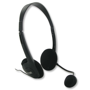 iCon Stereo Headset w/ Flexible Boom Microphone