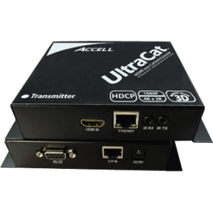 Accell UltraCat Video Console/Extender - 1 Input Device - 1 Output Device - 328.08 ft Range - 3 x Network (RJ-45) - 1 x HDMI In