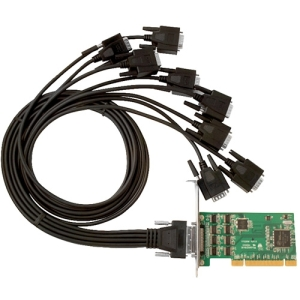 SIIG 8-port Multiport Serial Adapter - Universal PCI - 8 x DB-9 Male RS-232 Serial Via Cable - Plug-in Card