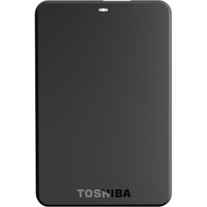 Toshiba Canvio Basics HDTB110XK3BA 1 TB External Hard Drive - 1 Pack - Black - USB 3.0 - 5400 rpm - 8 MB Buffer