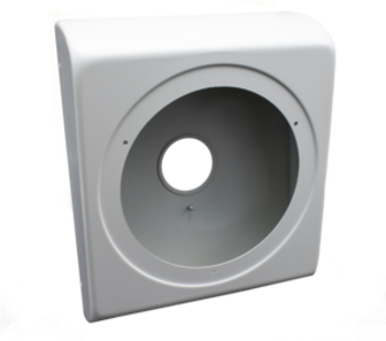 CyberData 011152 Mounting Adapter for Speaker - Steel - White