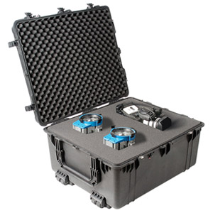 "Pelican 1690 Transport Case with Foam - 410.00 lb - Internal Dimensions: 25.02"" Width x 15"" Depth x 30.01"" Length - External Dimensions: 28.4"" Width x 18.2"" Depth x 33.4"" Length - Polyurethane, Steel, Copolymer - Black"