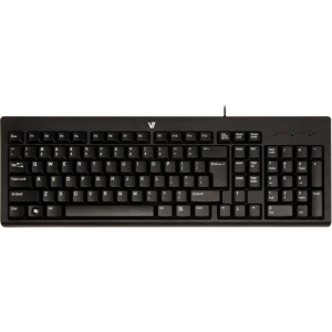 V7 104 Keys Black USB Desktop Keyboard -  KC0A1-4N6P