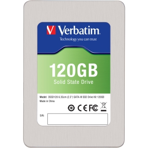 "Verbatim 120GB 2.5"" SATA III Internal Solid State Drive (SSD) (Drive Only) - 120GB 2.5"" SATA III Internal Solid State Drive (SSD) (Drive Only)"