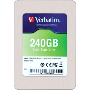 "Verbatim 240GB 2.5"" SATA III Internal Solid State Drive (SSD) (Drive Only) - 240GB 2.5"" SATA III Internal Solid State Drive (SSD) (Drive Only)"
