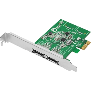 SIIG DP eSATA 6Gb/s 2-Port PCIe - 2 x 7-pin Serial ATA/600 Serial ATA External - PCI Express