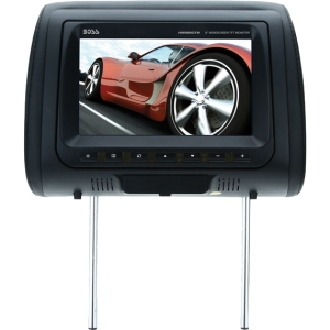 Boss HIR8BGTM 8&quot; Active Matrix TFT LCD Car Display - 16:9 - 800 x 480 Integrated - Speaker Included - IR Transmitter - Headrest-mountable