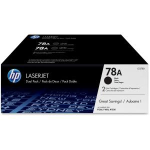 HP 78A Toner Cartridge - Black - Laser - 2100 Page - 2 Pack
