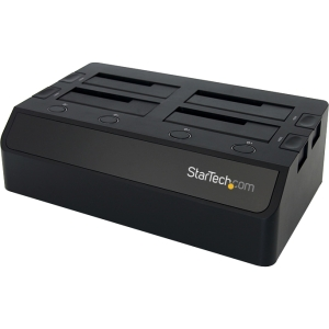 StarTech.com 4 Bay USB 3.0 to SATA Hard Drive Docking Station for 2.5/3.5 - Black
