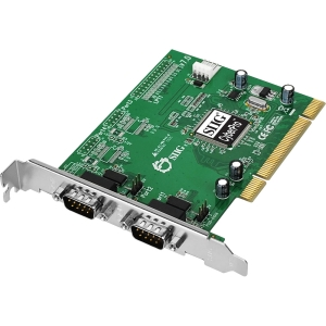 SIIG CyberSerial 2-port PCI Serial Adapter - 2 x 9-pin DB-9 Male RS-232 Serial PCI - 1 Pack