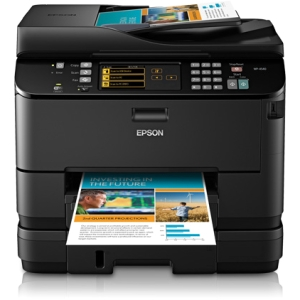 Epson WorkForce Pro WP-4540 Inkjet Multifunction Printer - Color - Plain Paper Print - Desktop - Printer, Scanner, Copier, Fax - 16 ppm Mono/11 ppm Color Print (ISO) - 4800 x 1200 dpi Print LCD - 2400 dpi Optical Scan - Automatic Duplex Print - 580 sheets