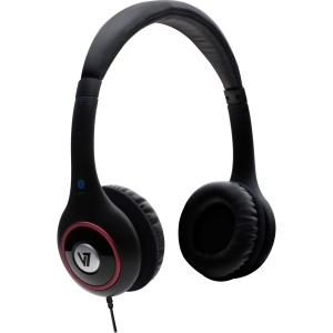 V7 HA510-2NP Headphone - Stereo - Black - Mini-phone - Wired - 32 Ohm - 20 Hz 20 kHz - Over-the-head - Binaural - Ear-cup - 5.91 ft Cable