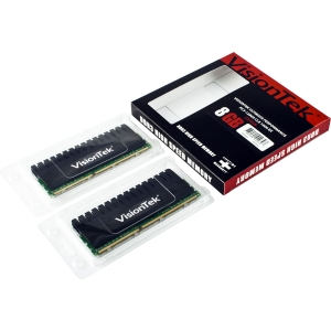 Visiontek High Performance 8GB DDR3 SDRAM Memory Module - 8 GB (2 x 4 GB) - DDR3 SDRAM - 1600 MHz DDR3-1600/PC3-12800 - Non-ECC - Unbuffered - 240-pin DIMM