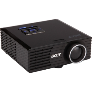 Acer K330 3D Ready DLP Projector - 720p - HDTV - 16:10 - 1.5 - NTSC, PAL, SECAM - 1280 x 800 - WXGA - 4,000:1 - 500 lm - HDMI - USB - VGA In - Secure Digital (SD) Card, Secure Digital High Capacity (SDHC) Card - 120 W