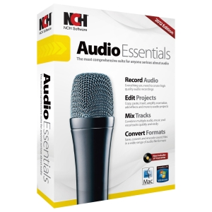 NCH Software Audio Essentials - Audio Editing Retail - Mac, PC - English, Spanish