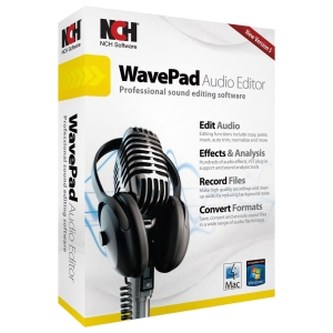 NCH Software WavePad - Audio Editing - CD-ROM - PC, Mac - English, Spanish