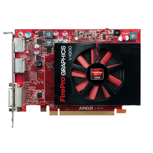 AMD FirePro V4900 Graphic Card - 1 GB GDDR5 SDRAM - PCI Express 2.1 x16 - Half-length/Full-height - 2560 x 1600 - Fan Cooler - OpenCL, OpenGL 4.2, DirectX 11.0 - DisplayPort - DVI