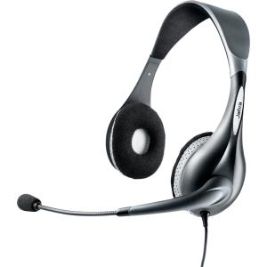 Jabra UC Voice 150 duo Headset - Stereo - Gray - USB - Wired - Over-the-head - Binaural - Semi-open - Noise Reduction, Noise Cancelling Microphone