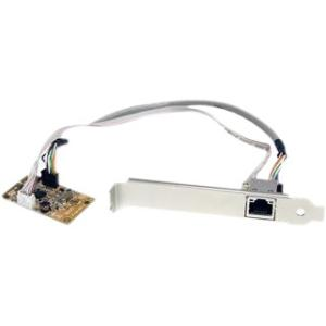 StarTech.com Mini PCI Express Gigabit Ethernet Network Adapter NIC Card - PCI Express - 1 Port - 10/100/1000Base-T - Internal - Low-profile