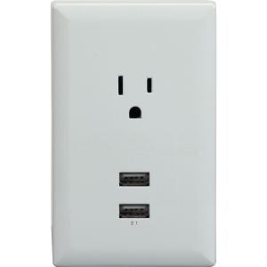 RCA WP2UWR Power Socket - 2, 1 x USB, AC 2.10 A