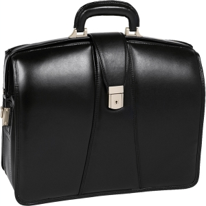 "McKleinUSA Harrison V Series 83385 Partners Laptop Brief - Briefcase - Shoulder Strap , Hand Strap - 17"" Screen Support - Leather - Black"