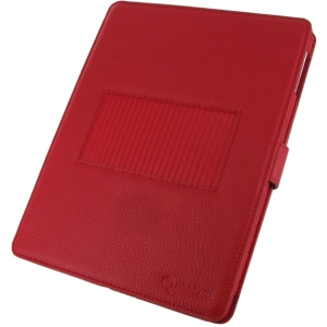 rooCASE Convertible Leather Case for Apple iPad 4 / The new iPad 3/2 - Red - Leather