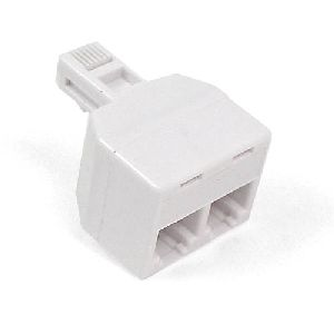 Belkin Dual Jack Adapter - 1 x RJ-11 Male - 2 x RJ-11 Female - White
