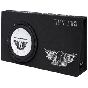 Power Acoustik THIN 10BX Woofer - Black - 20 Hz to 300 Hz - 4 Ohm