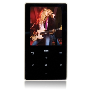 "RCA M6204 4 GB Black Flash Portable Media Player - Audio Player, Video Player, Photo Viewer, FM Tuner, FM Recorder - 2"" Color LCD"