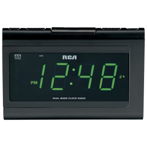 RCA RC141 Desktop Clock Radio - 2 x Alarm - FM - Manual Snooze - Manual Wake-up Timer