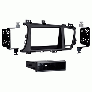 METRA Vehicle Mount for Radio - ABS Plastic - Matte Black