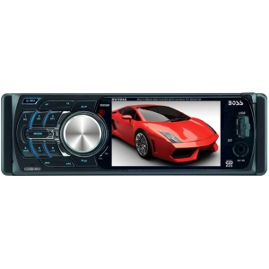 "Boss BV7942 Car DVD Player - 3.6"" LCD - 320 W RMS - Single DIN - DVD Video, Video CD, SVCD - FM, AM - Secure Digital (SD) - 2 x USB - 800 x 480 - iPod/iPhone Compatible - In-dash"