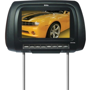 Boss HIR70BL 7&quot; Active Matrix TFT LCD Car Display - Black - 16:9 - 800 x 480 - IR Transmitter - Headrest-mountable