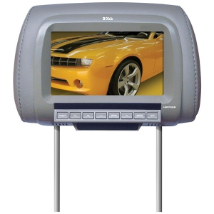 "Boss HIR70GR 7"" Active Matrix TFT LCD Car Display - Gray - 16:9 - 800 x 480 - IR Transmitter - Headrest-mountable"