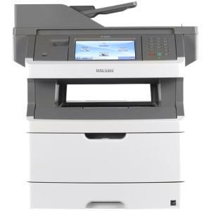 Ricoh Aficio SP4410SF Laser Multifunction Printer - Monochrome - Plain Paper Print - Desktop - Printer, Copier, Scanner, Fax - 40 ppm Mono Print - 1200 x 1200 dpi Print - 40 cpm Mono Copy - Touchscreen LCD - 600 dpi Optical Scan - Automatic Duplex Print -