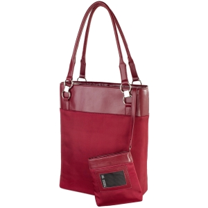 "WIB Bonita Classica Carrying Case (Tote) for 15.6"" Notebook - Wine Red - Faux Leather, MicroFiber"