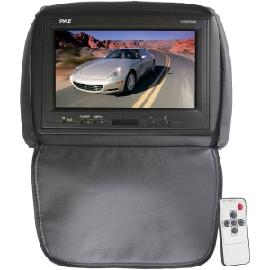 Pyle PL90HRBK 9&quot; Active Matrix TFT LCD Car Display - Black - 16:9 - 1024 x 600 - 300:1 - IR Transmitter - Headrest-mountable
