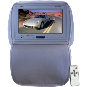 "Pyle PL90HRGR 9"" Active Matrix TFT LCD Car Display - Gray - 16:9 - 1024 x 600 - 300:1 - IR Transmitter - Headrest-mountable"