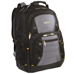 "Targus Drifter II Plus TSB702US Carrying Case (Backpack) for 16"" Notebook - Black, Gray - Nylon, Polyester"