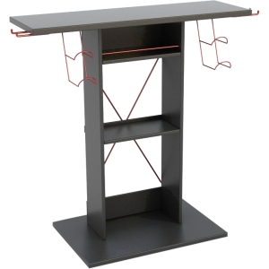 Atlantic 38806135 TV Stand - Up to 32&quot; Screen Support - 50.00 lb Load Capacity - 3 x Shelf(ves) - 30.4&quot; Height x 14.1&quot; Width - Laminate - Wood, Steel - Black