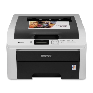 Brother HL-3045CN LED Printer - Color - 2400 x 600 dpi Print - Plain Paper Print - Desktop - 19 ppm Mono / 19 ppm Color Print - 250 sheets Input - Manual Duplex Print - LCD - Fast Ethernet - USB