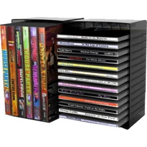 "Image of Atlantic 2233-5730 Black Disc Storage Module - 8"""" Height x 3.6"""" Width - 12 26 x DVD CD - Plastic"
