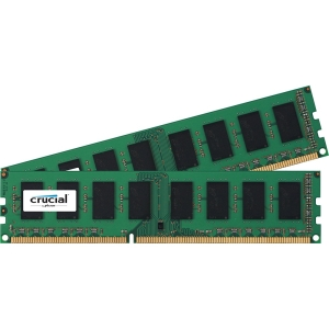 Crucial 8GB Kit (4GBx2), 240-pin DIMM, DDR3 PC3-8500 Memory Module - 8 GB (2 x 4 GB) - DDR3 SDRAM - 1066 MHz DDR3-1066/PC3-8500 - ECC - Unbuffered - 240-pin DIMM