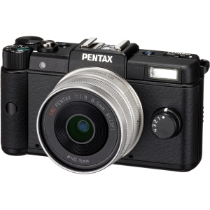 "Pentax Q 12.4 Megapixel Mirrorless Camera (Body with Lens Kit) - 5 mm - 15 mm - 8.50 mm (Lens 2) - Black - 3"" LCD - 3x Optical Zoom - Optical (IS) - 4000 x"