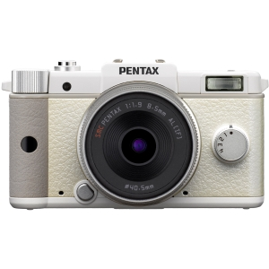 "Pentax Q 12.4 Megapixel Mirrorless Camera (Body with Lens Kit) - 5 mm - 15 mm - 8.50 mm (Lens 2) - White - 3"" LCD - 3x Optical Zoom - Optical (IS) - 4000 x"