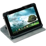 "Targus Truss THZ172US Carrying Case (Book Fold) for 10.1"" Tablet PC - Black, Gray - Leather"